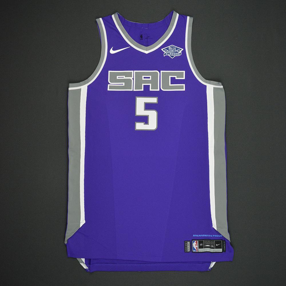 De'Aaron Fox - Sacramento Kings - 2017 NBA Draft - Autographed Jersey