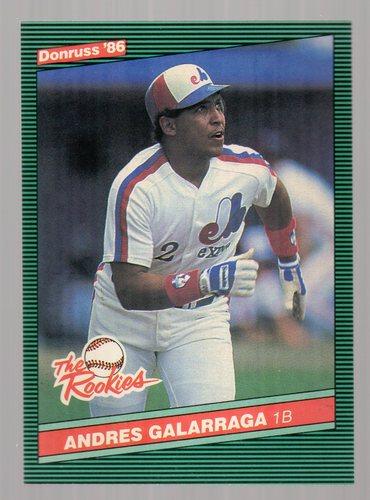 Photo of 1986 Donruss Rookies #7 Andres Galarraga -- Montreal Expos