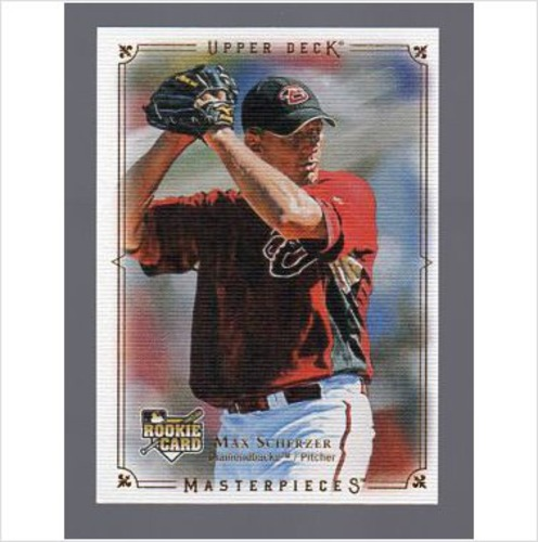 Photo of 2008 UD Masterpieces #5 Max Scherzer RC