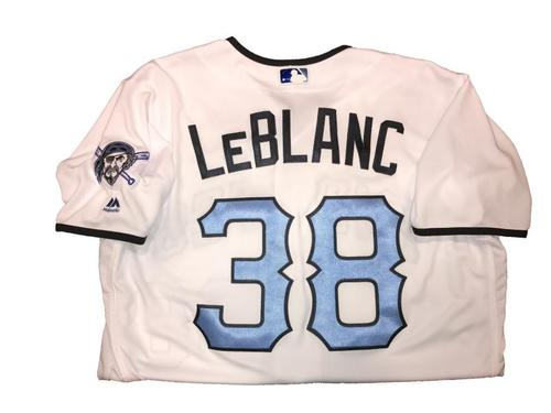 Photo of Wade LeBlanc Game-Used Father's Day Weekend Jersey - Worn on 6/17 & 6/18