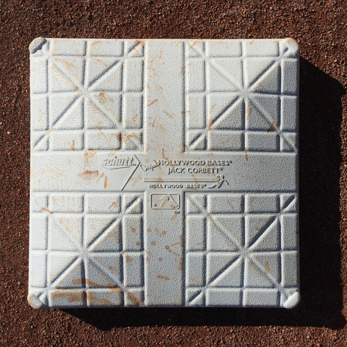 Photo of San Francisco Giants - 2016 Game-Used Base - COL vs SF - 3rd Base from Innings 1-3 - Belt RBI Triple in Bottom of the 1st (7/6/16)