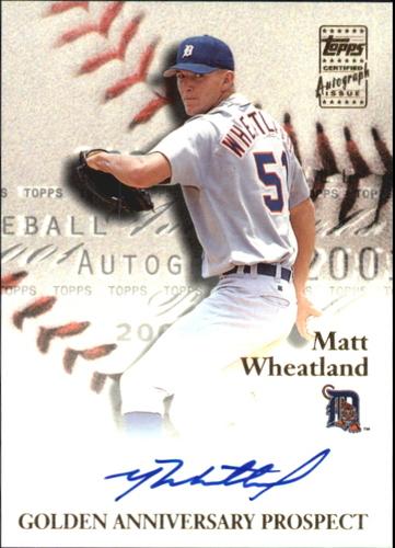 Photo of 2001 Topps Golden Anniversary Autographs #GAAMW Matt Wheatland G1