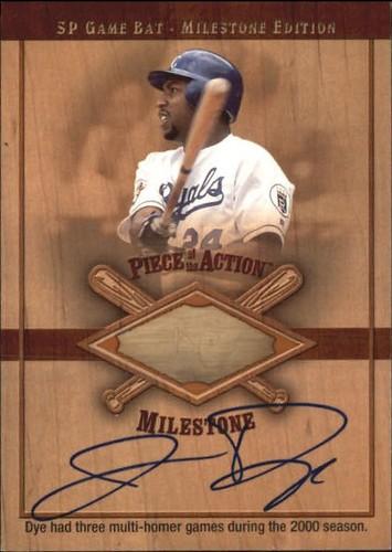 Photo of 2001 SP Game Bat Milestone Piece of Action Autographs #SJD Jermaine Dye