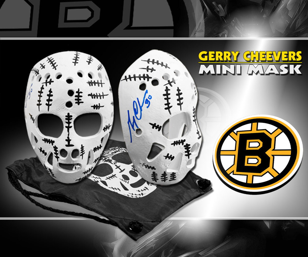 Gerry Cheevers Boston Bruins Autographed Mini Mask