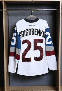 Mikhail Grigorenko Colorado Avalanche Game Worn Stadium Series Jersey