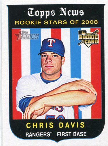 Photo of 2008 Topps Heritage #671 Chris Davis RC