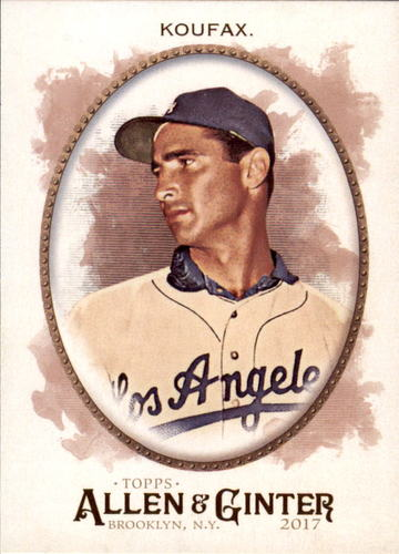 Photo of 2017 Topps Allen and Ginter #150 Sandy Koufax