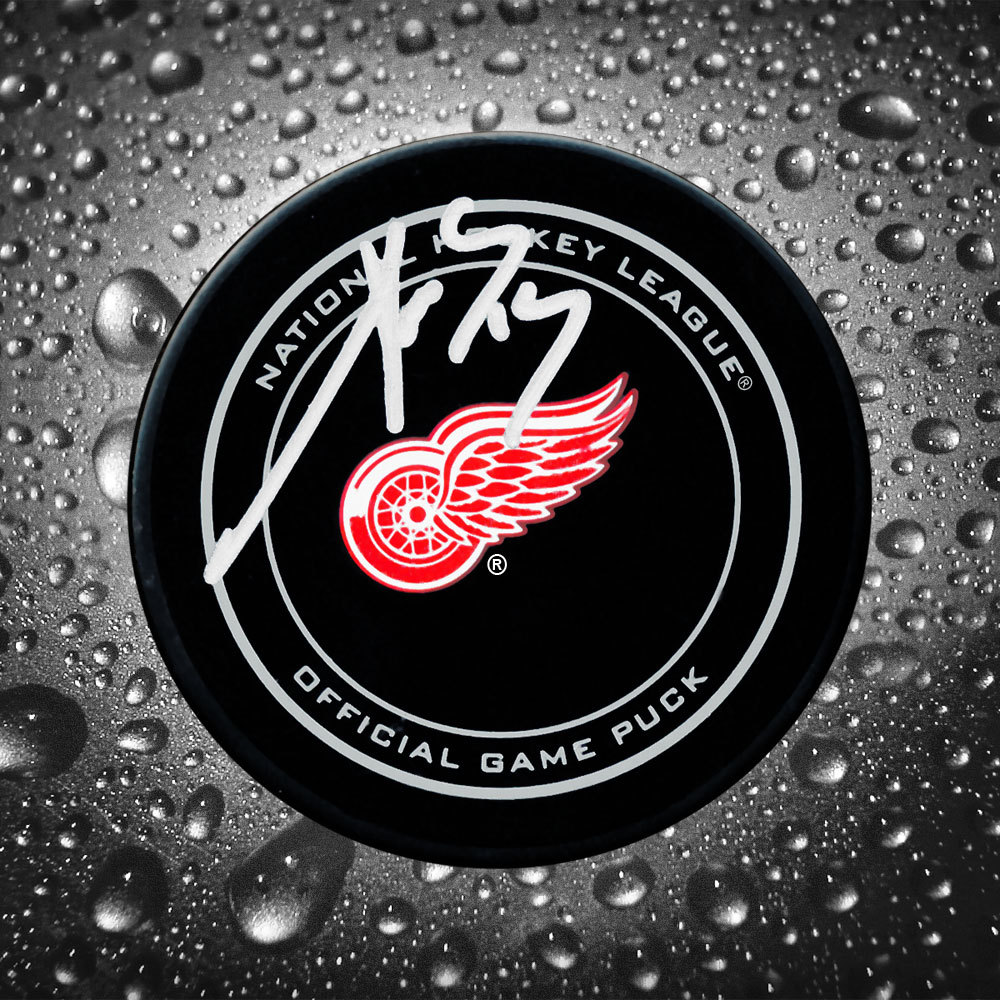 Pavel Datsyuk Detroit Red Wings Autographed Official Game Puck