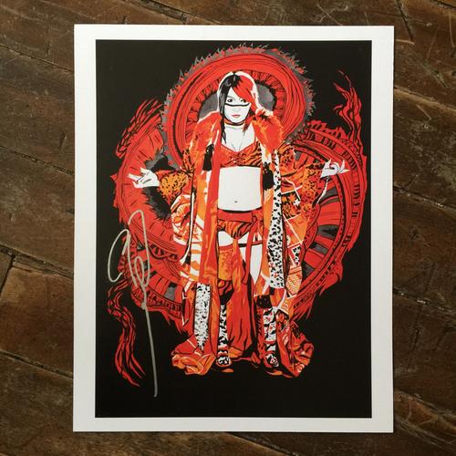 Photo of Asuka SIGNED 11 x 14 Rob Schamberger Print