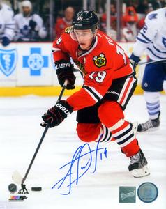 Jonathan Toews - Signed 8x10 Photo - Chicago Blackhawks Red Action