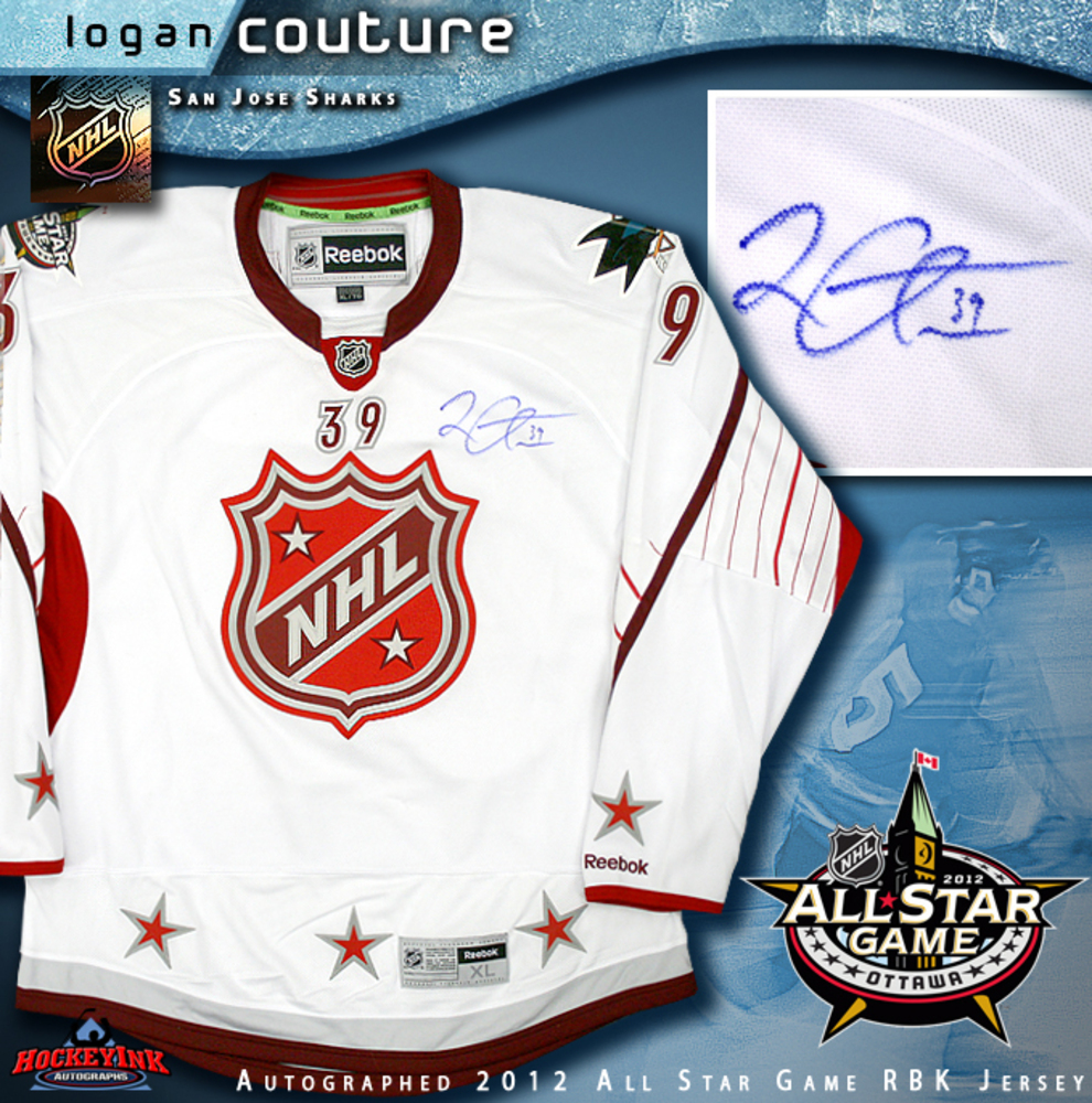 LOGAN COUTURE Signed San Jose Sharks 2012 All Star Game RBK Premier Jersey