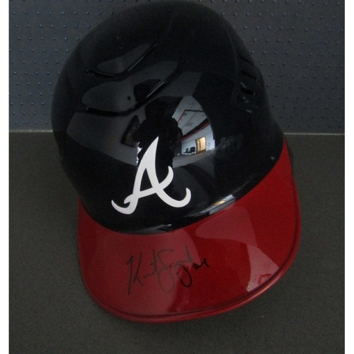 Braves Charity Auction - Kurt Suzuki Autographed Helmet