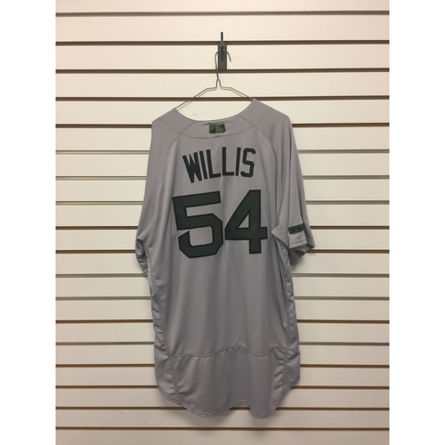 Photo of Carl Willis Game-Used May 29, 2017 Memorial Day Road Jersey