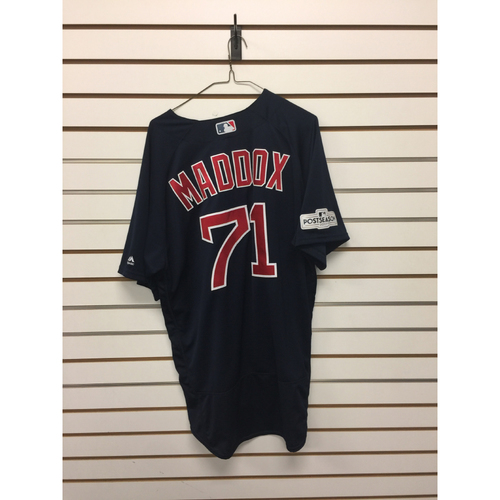 Photo of Austin Maddox Game-Used September 22, 2017 Road Alternate Jersey