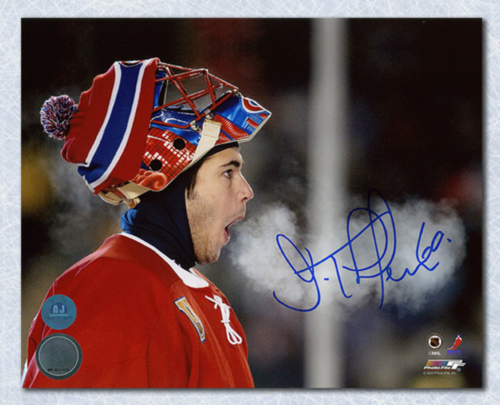 Jose Theodore Montreal Canadiens Autographed 2003 Heritage Classic 8x10 Photo