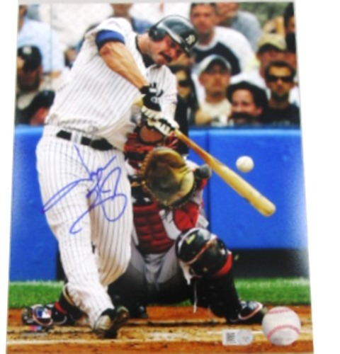 Photo of Jason Giambi Autogrpahed 8x10 Photograph (Yankees - Batting)