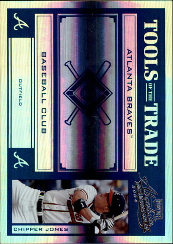 Photo of 2004 Absolute Memorabilia Tools of the Trade Blue Spectrum #30 Chipper Jones H