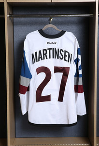 Andreas Martinsen Colorado Avalanche Game Issued Stadium Series Jersey
