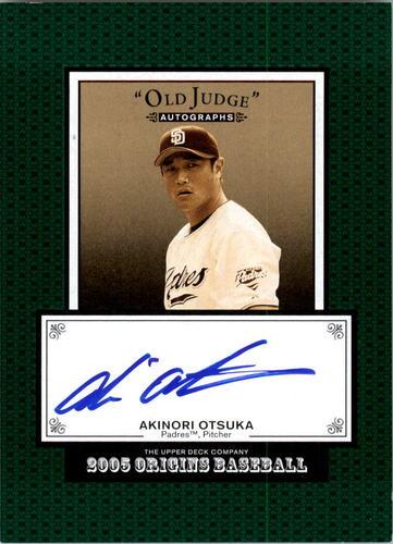 Photo of 2005 Origins Old Judge Autographs #AO Akinori Otsuka T3