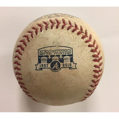 Photo of 2016 Game Used Baseball - Pitcher: Joel De La Cruz, Batter: Carlos Gonzalez, Single