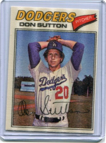 Photo of 1977 Topps Cloth Stickers #47 Don Sutton