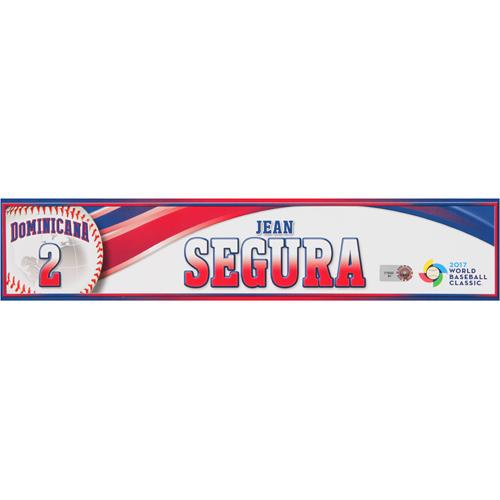 Photo of 2017 WBC Dominican Republic Game-Used Locker Tag: Jean Segura #2