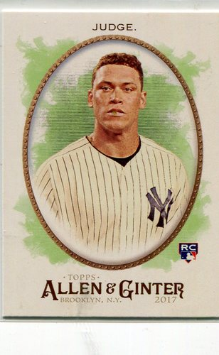 Photo of 2017 Topps Allen and Ginter #172 Aaron Judge Rookie Card