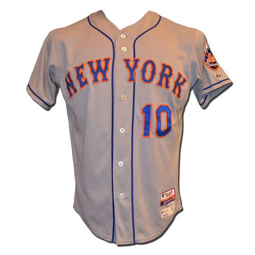 Photo of Terry Collins #10 - Game Used Road Grey Jersey - Mets vs. Phillies - 9/29/15