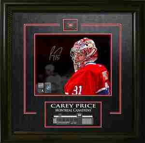 Carey Price - Signed & Framed 8x10 Etched Mat - Montreal Canadiens Red Close Up - FATHER'S DAY SPECIAL