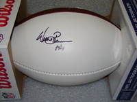 NFL - RAIDERS WILLIE BROWN SIGNED PANEL BALL