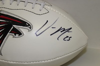 FALCONS - WILLIAM MOORE SIGNED PANEL BALL W/ FALCONS LOGO