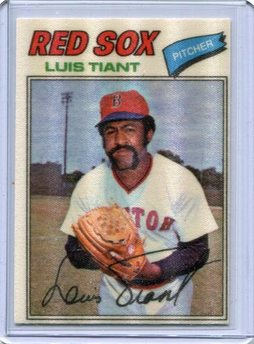 Photo of 1977 Topps Cloth Stickers #48 Luis Tiant