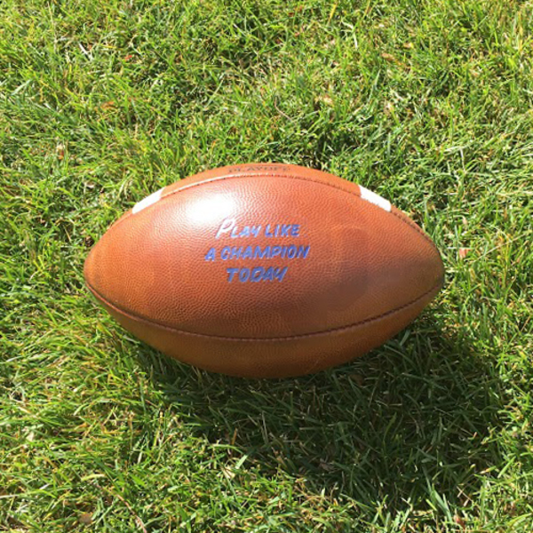 Notre Dame Game-Used Football vs. Temple - 9/2/17