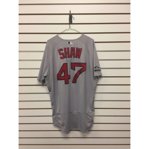 Photo of Travis Shaw Game-Used September 28, 2016 Road Jersey