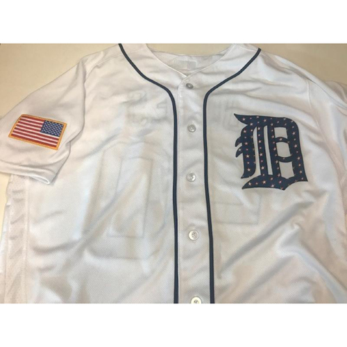 Photo of Team-Issued JaCoby Jones Stars and Stripes Jersey