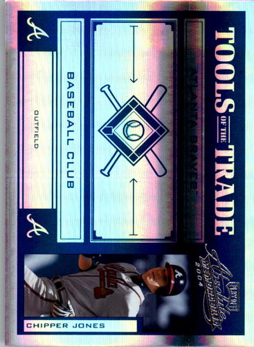 Photo of 2004 Absolute Memorabilia Tools of the Trade Blue Spectrum #31 Chipper Jones A
