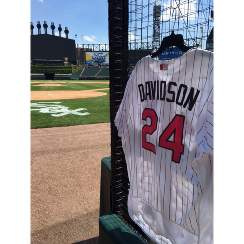 Photo of Matt Davidson Game-Used 2017 Mother's Day Jersey - Size 50