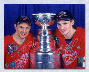 Steve Yzerman & Sergei Fedorov Detroit Red Wings Dual Signed Cup 8x10 Photo