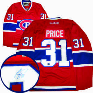 Carey Price - Signed Reebok Premier Red Montreal Canadiens Jersey