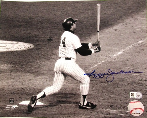 Photo of Reggie Jackson Autographed 8x10 (Yankees World Series HR)
