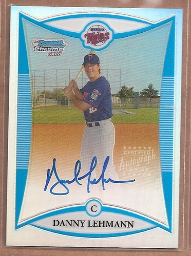 Photo of 2008 Bowman Chrome Prospects Refractors #BCP253 Danny Lehmann AU