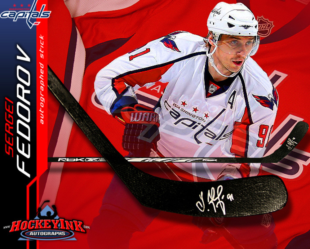 SERGEI FEDOROV Signed RBK Stick - Washington Capitals