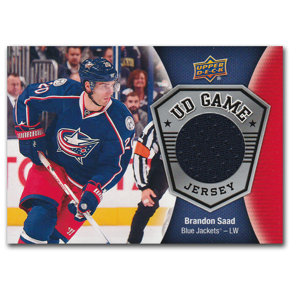 Brandon Saad 2016-17 Upper Deck Series 2 Game Jersey Card