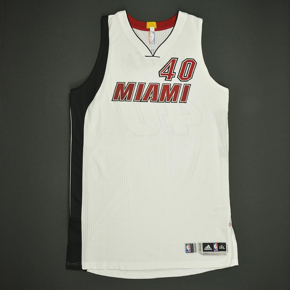 Udonis Haslem - Miami Heat - Game-Worn White Alternate Jersey - Dressed, Did  Not Play - 2016-17 Season