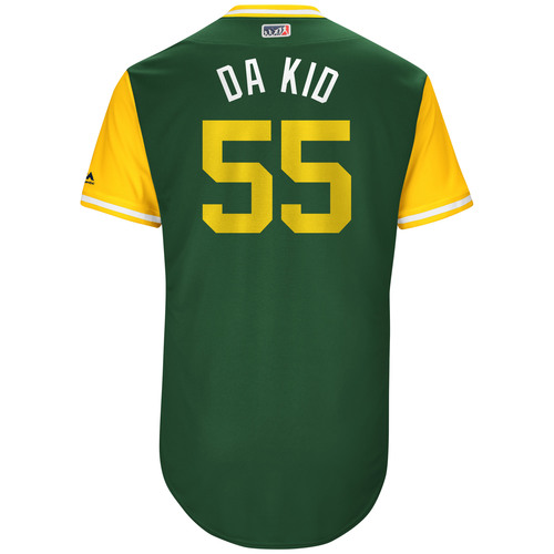 "Photo of Sean ""Da Kid"" Manaea Oakland Athletics Game-Used Players Weekend Jersey"