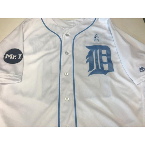 Photo of Team-Issued Jordan Zimmermann Father's Day Jersey