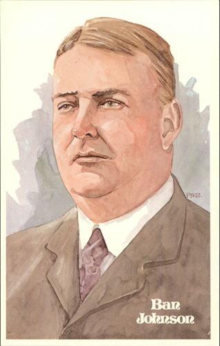 Photo of 1980-02 Perez-Steele Hall of Fame Postcards #7 Ban Johnson -- Set #08689