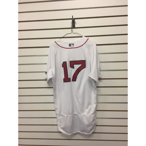 Photo of Deven Marrero Game-Used October 1, 2017 Home Jersey