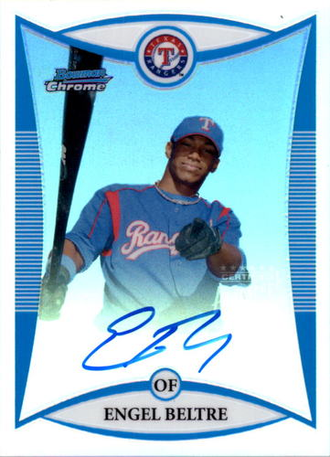 Photo of 2008 Bowman Chrome Prospects Refractors #BCP260 Engel Beltre AU