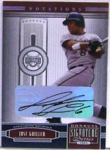 Photo of 2005 Donruss Signature Autograph Silver Notation #147 Jose Guillen T4